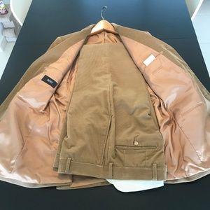 Hugo Boss Suits & Blazers - BOSS Beige Cord Suit - size M: 31 waist, 30 length